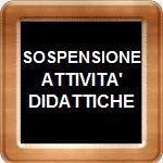 Logo sospensione delle attività didattiche
